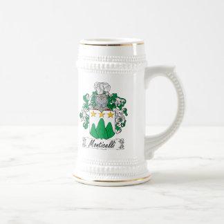 Escudo de la familia de Monticelli Tazas De Café