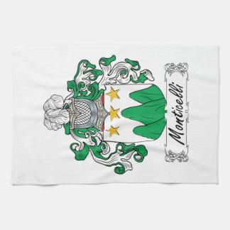 Escudo de la familia de Monticelli Toallas De Mano