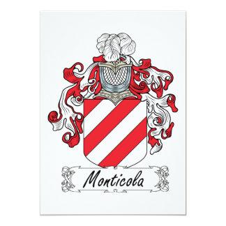 """Escudo de la familia de Monticola Invitación 5"""" X 7"""""""
