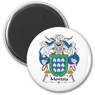 Escudo de la familia de Montoia Imán Redondo 5 Cm