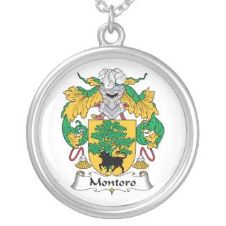Escudo de la familia de Montoro Colgante Redondo