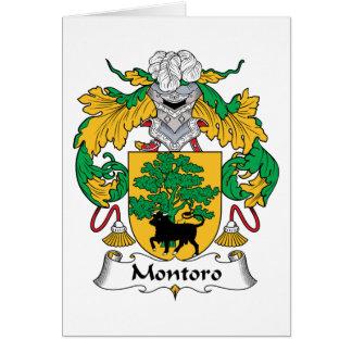 Escudo de la familia de Montoro Tarjeta De Felicitación