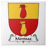 Escudo de la familia de Montsax Azulejo