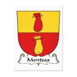 Escudo de la familia de Montsax Impresión En Lienzo Estirada