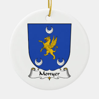 Escudo de la familia de Monyer Adorno Navideño Redondo De Cerámica