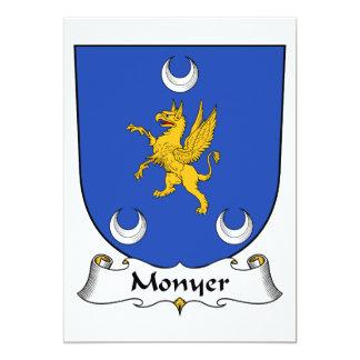 """Escudo de la familia de Monyer Invitación 5"""" X 7"""""""