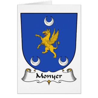 Escudo de la familia de Monyer Tarjeta De Felicitación