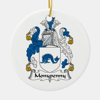 Escudo de la familia de Monypenny Adorno Redondo De Cerámica