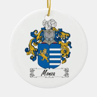 Escudo de la familia de Monza Adorno Navideño Redondo De Cerámica
