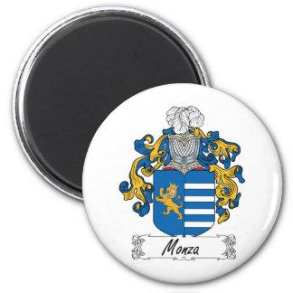 Escudo de la familia de Monza Imán Redondo 5 Cm