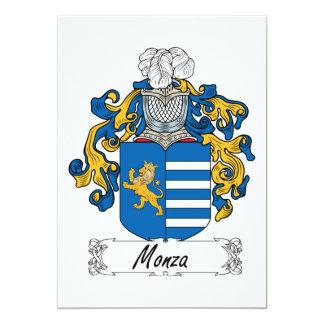 """Escudo de la familia de Monza Invitación 5"""" X 7"""""""