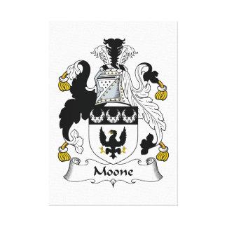 Escudo de la familia de Moone Impresiones En Lona