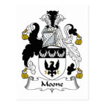 Escudo de la familia de Moone Tarjeta Postal