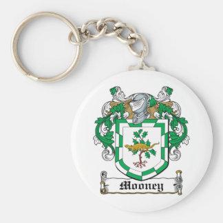 Escudo de la familia de Mooney Llavero Redondo Tipo Pin