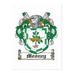Escudo de la familia de Mooney Postales