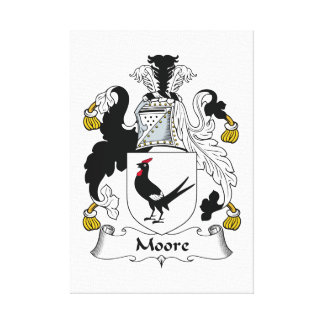 Escudo de la familia de Moore Lienzo Envuelto Para Galerias