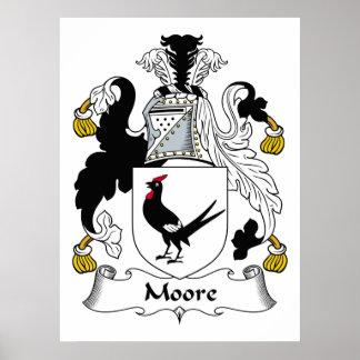 Escudo de la familia de Moore Poster