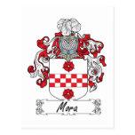 Escudo de la familia de Mora Postal