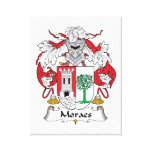Escudo de la familia de Moraes Lienzo Envuelto Para Galerías