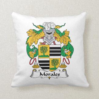 Escudo de la familia de Morales Cojín Decorativo