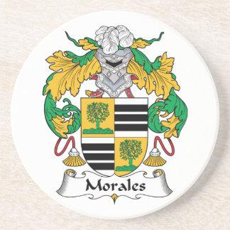 Escudo de la familia de Morales Posavasos Diseño