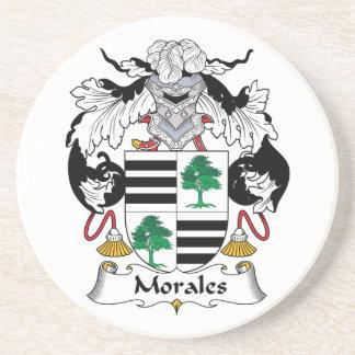 Escudo de la familia de Morales Posavasos Manualidades