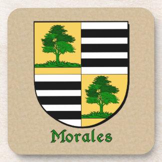 Escudo de la familia de Morales Posavasos De Bebida