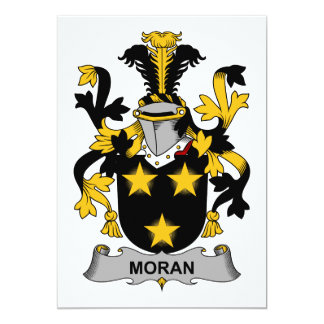 """Escudo de la familia de Moran Invitación 5"""" X 7"""""""
