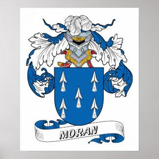 Escudo de la familia de Moran Póster