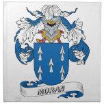 Escudo de la familia de Moran Servilletas Imprimidas