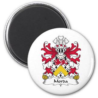 Escudo de la familia de Morda Imán Redondo 5 Cm