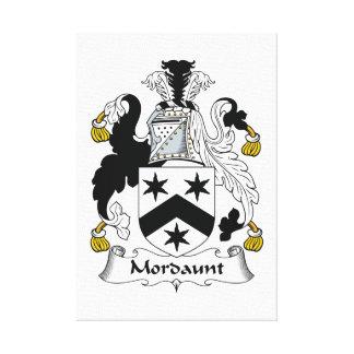 Escudo de la familia de Mordaunt Lienzo Envuelto Para Galerias