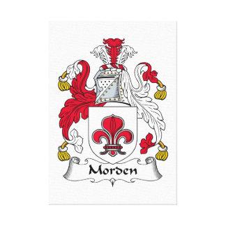 Escudo de la familia de Morden Impresión De Lienzo