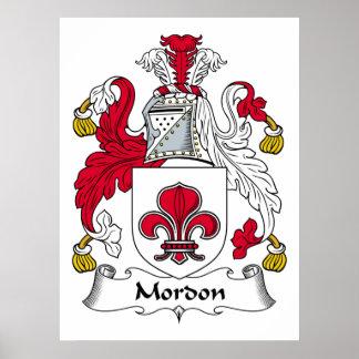 Escudo de la familia de Mordon Posters