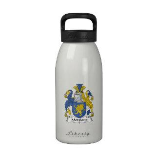 Escudo de la familia de Moreland Botella De Agua