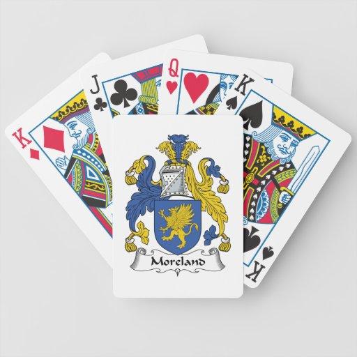 Escudo de la familia de Moreland Baraja Cartas De Poker