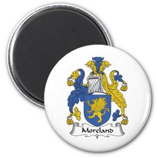 Escudo de la familia de Moreland Imán Redondo 5 Cm