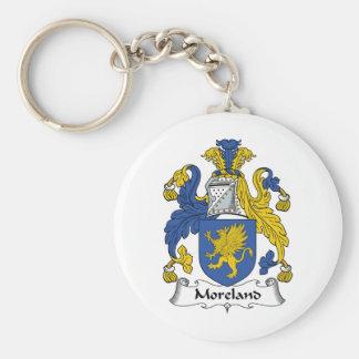 Escudo de la familia de Moreland Llaveros Personalizados
