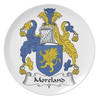 Escudo de la familia de Moreland Plato De Cena