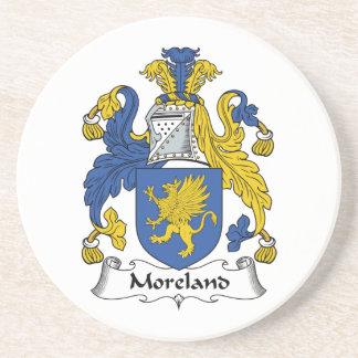 Escudo de la familia de Moreland Posavasos Cerveza