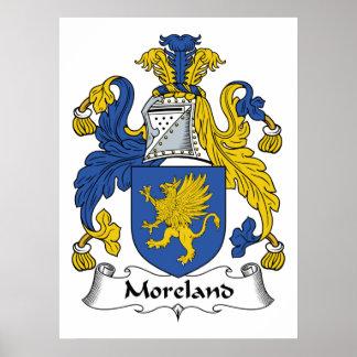 Escudo de la familia de Moreland Posters