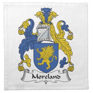 Escudo de la familia de Moreland Servilletas Imprimidas