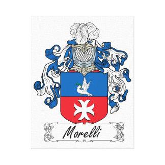 Escudo de la familia de Morelli Impresión En Lienzo Estirada