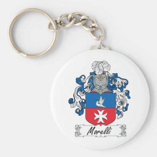 Escudo de la familia de Morelli Llavero Redondo Tipo Pin