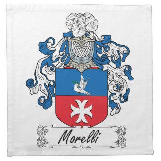 Escudo de la familia de Morelli Servilleta Imprimida
