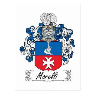 Escudo de la familia de Morelli Tarjeta Postal