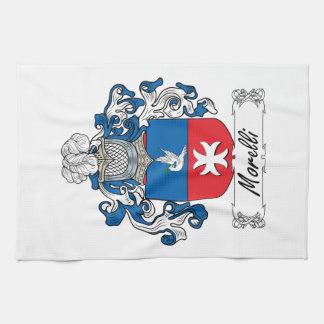 Escudo de la familia de Morelli Toallas De Mano