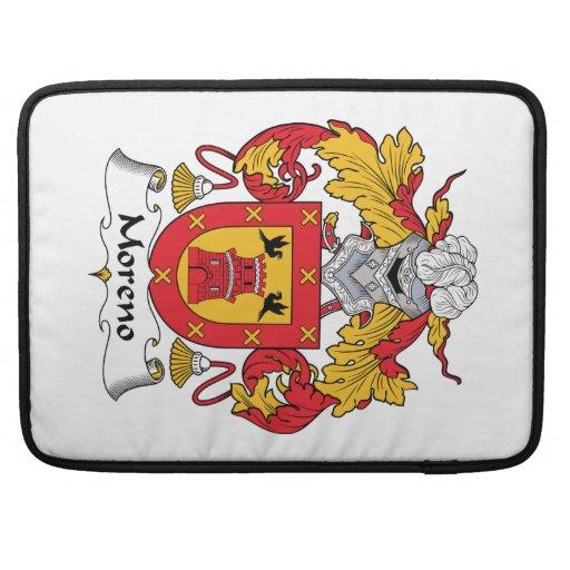 Escudo de la familia de Moreno Fundas Para Macbooks
