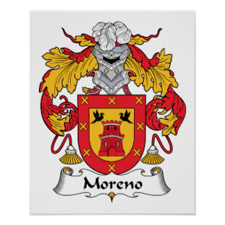 Escudo de la familia de Moreno Impresiones