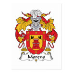 Escudo de la familia de Moreno Postal
